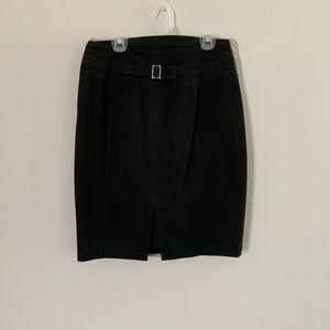 Express Pencil Skirt with Buckle on Back